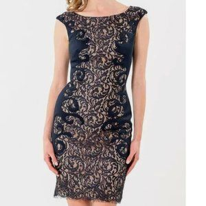 Terani Couture Lace Embellished Cocktail Dress